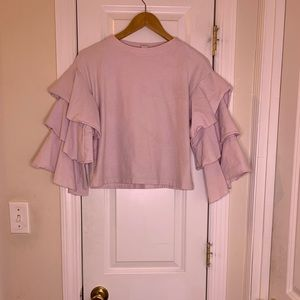 H&M bell sleeve top
